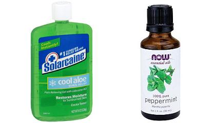 The best remedy for sunburn itching I found was peppermint oil and Solarcaine aloe vera gel.