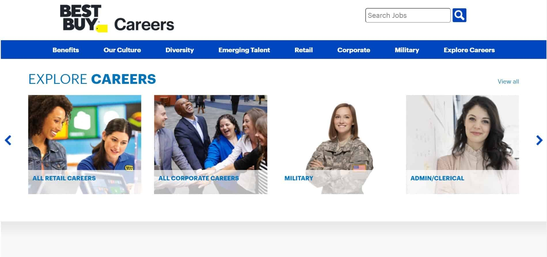 Before you submit your Best Buy application online, take a look at all the career areas to choose from.