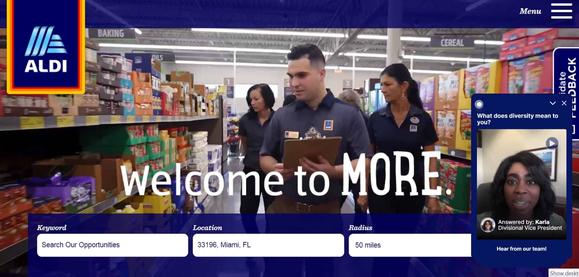 Find one of the Aldi careers that fits your needs by visiting this page.